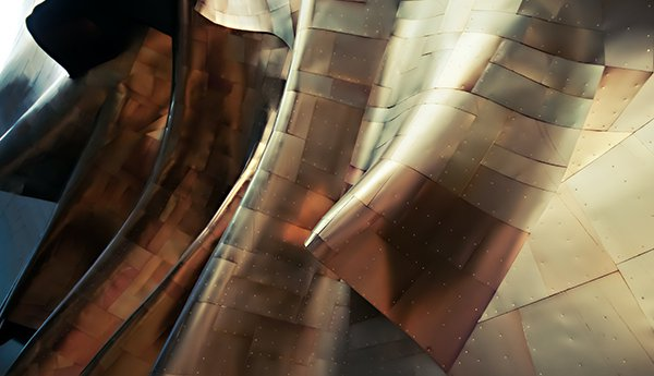 Copper Abstract Architecture